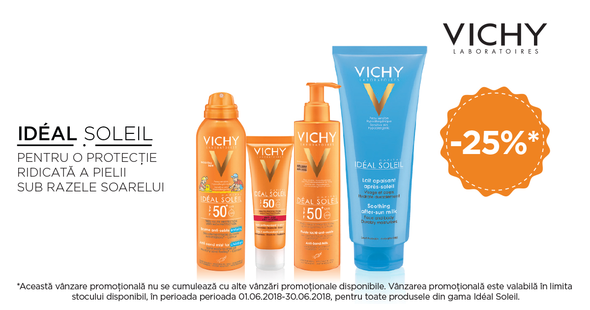 25% reducere la gama VICHY Ideal Soleil