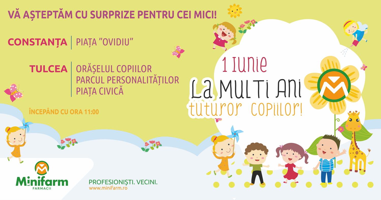 De 1 Iunie, farmaciile Minifarm au fost alături de copiii din Constanța și Tulcea!