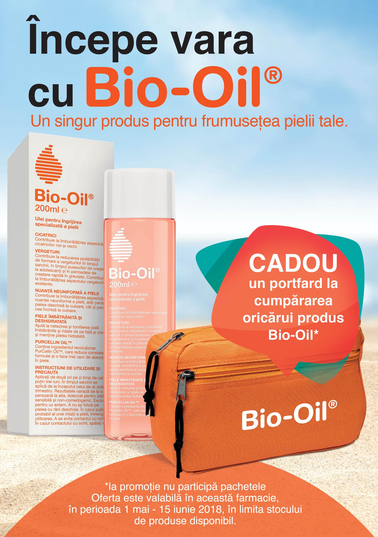 Bio-Oil îți oferă un portfard CADOU!