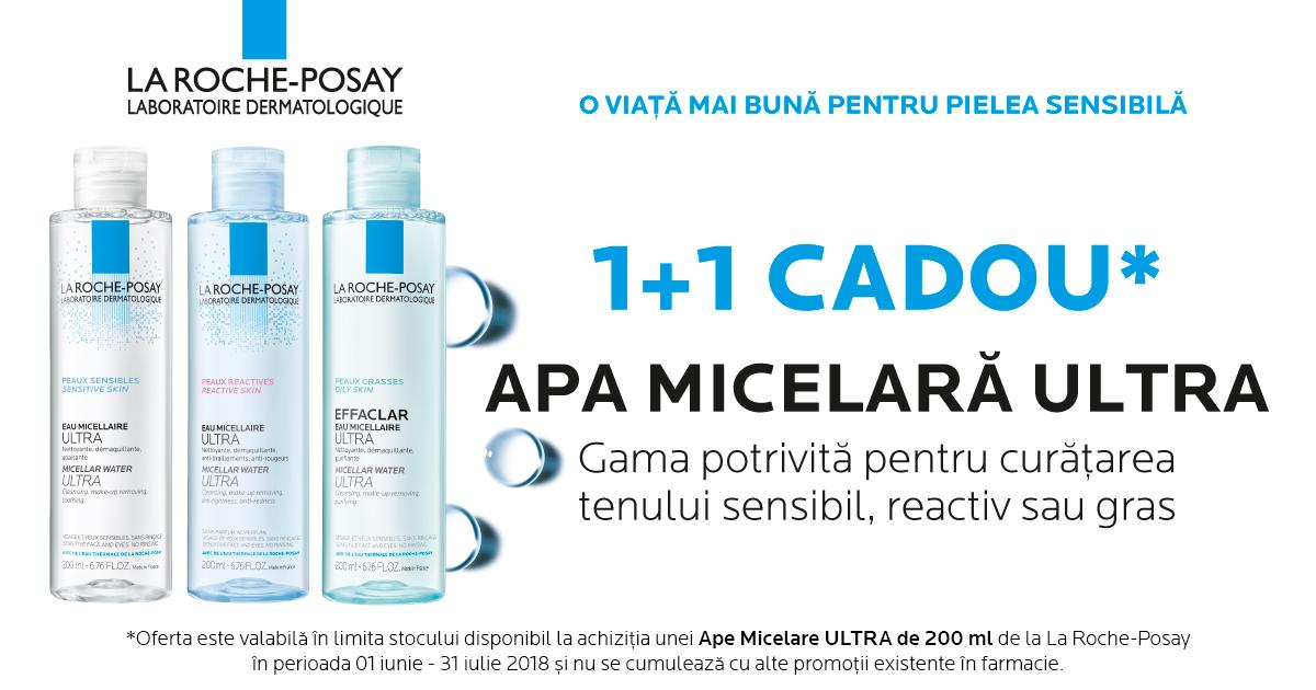Apa Micelara Ultra La Roche-Posay 1 + 1 CADOU