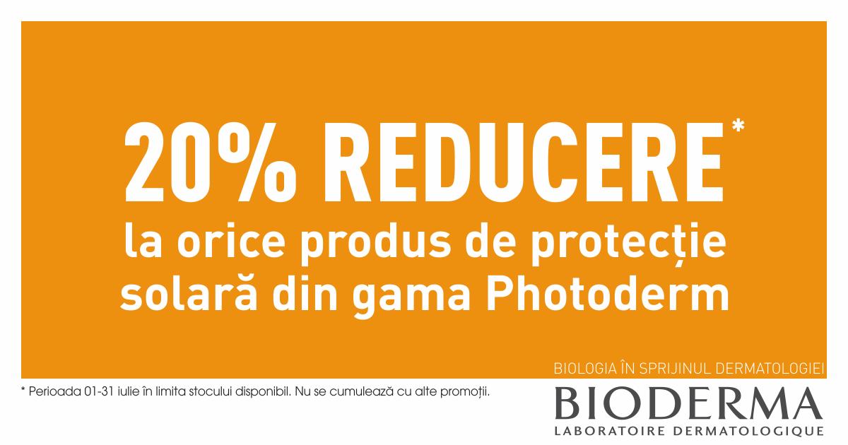 20% reducere la toată gama Photoderm