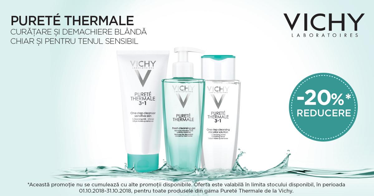 20% reducere pentru gama Vichy Purete Thermale!