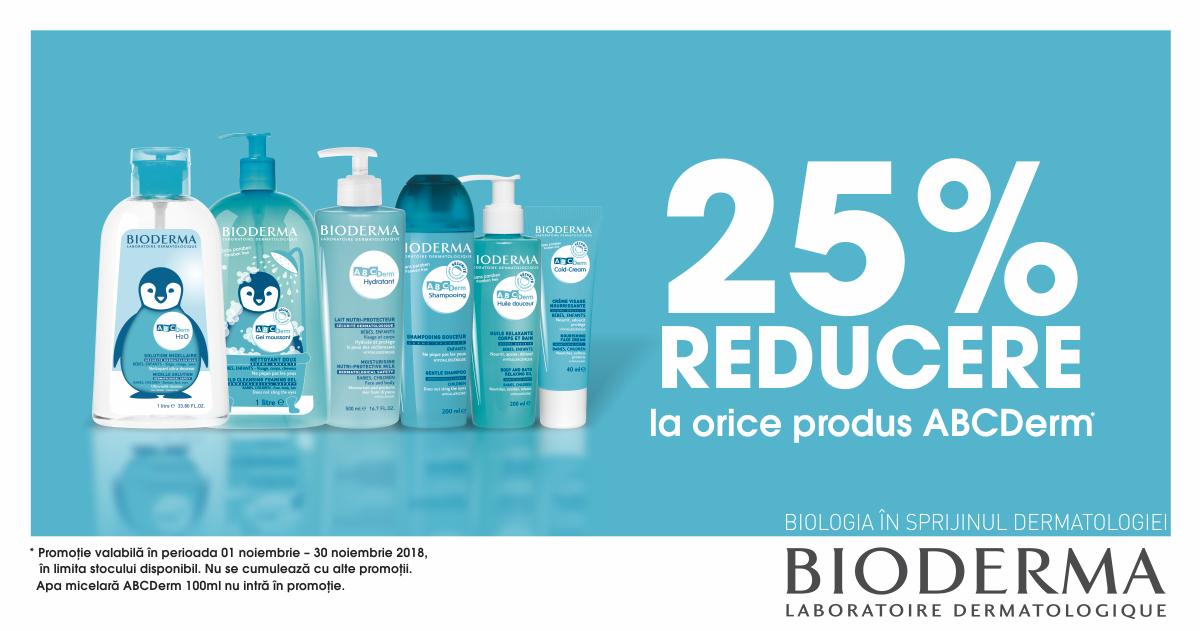 25% discount gama Bioderma ABCDerm