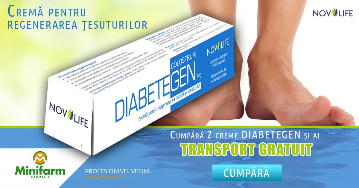 Crema pentru regenerarea țesuturilor, Diabetegen, disponibilă la Minifarm!
