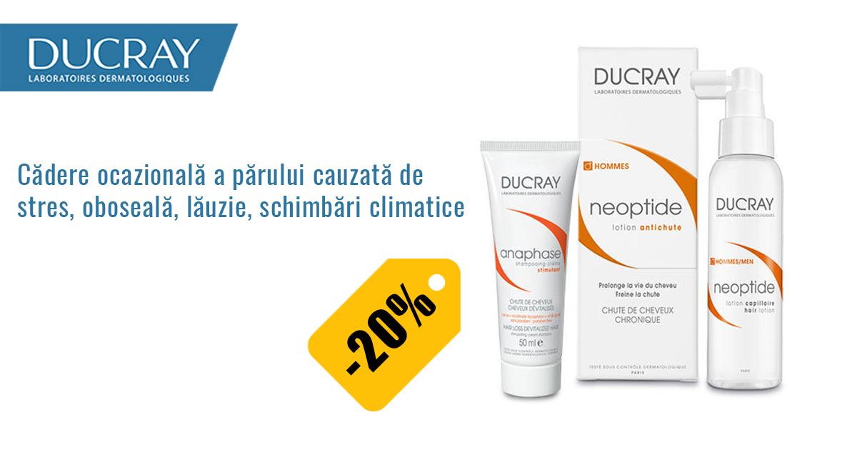 20% reducere la gama Ducray Anaphase