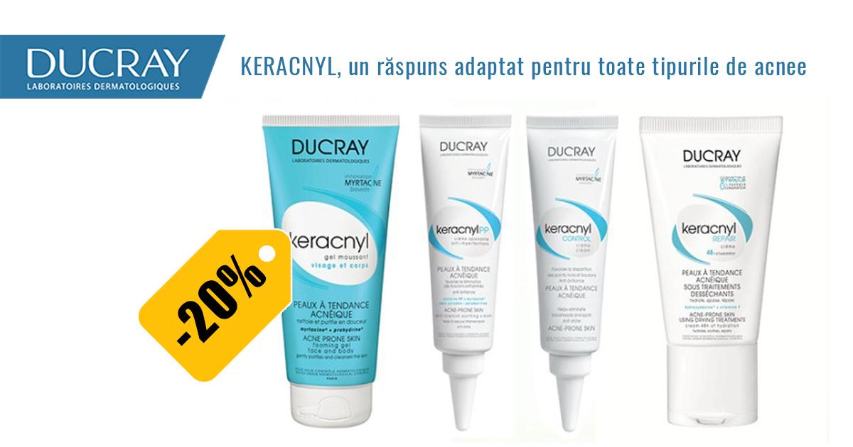 20% reducere la gama Ducray Keracnyl