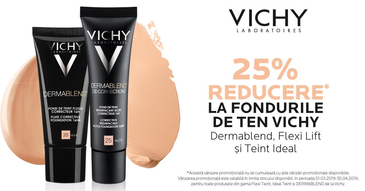 25% reducere la fondurile de ten Vichy
