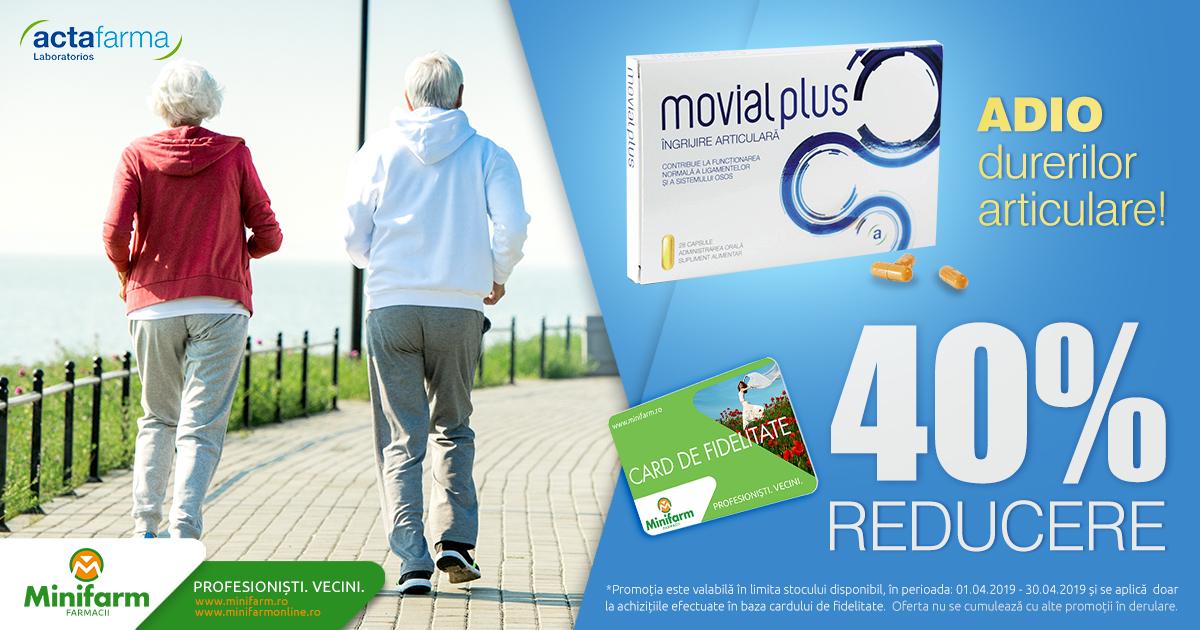 Adio durerilor articulare cu o reducere de 40% la Movial Plus!