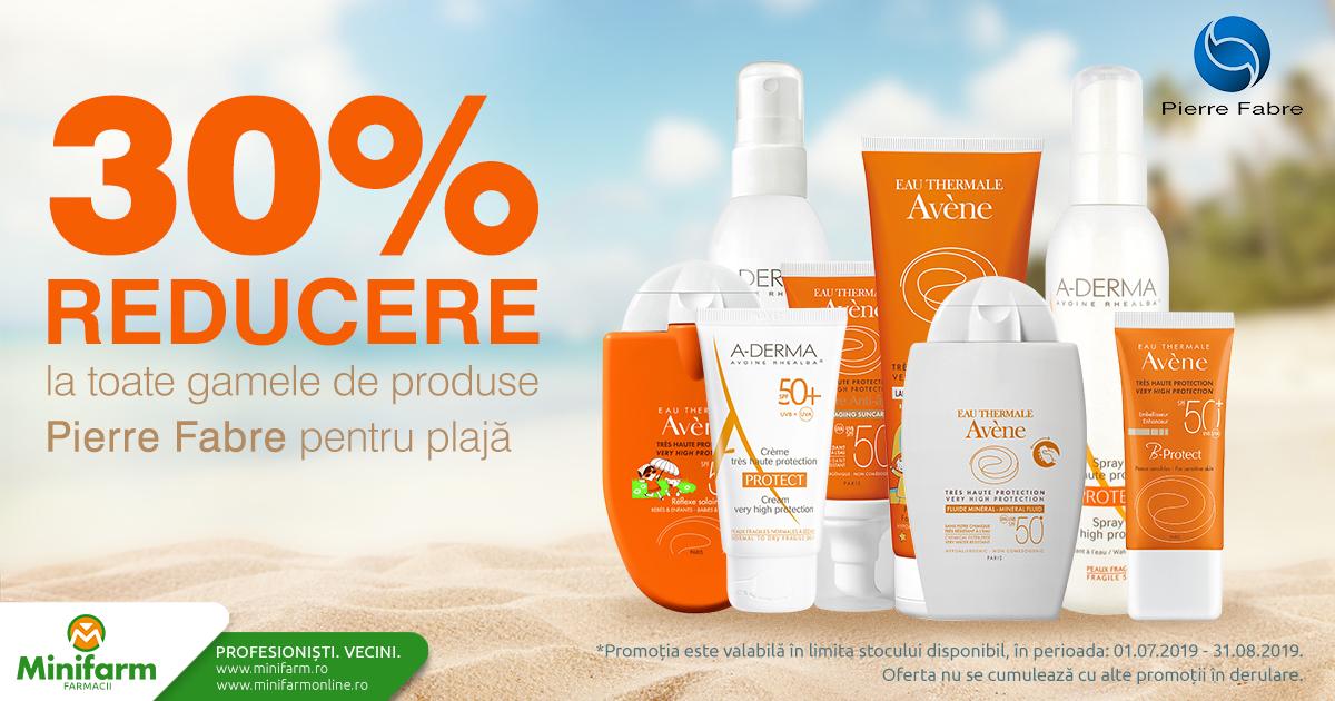 Protejează-te de soare cu o reducere de 30% pentru solarele Avene!