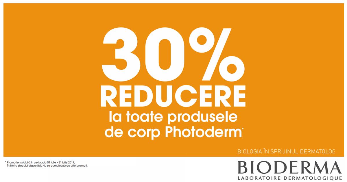 30% reducere la toate produsele de corp Bioderma Photoderm