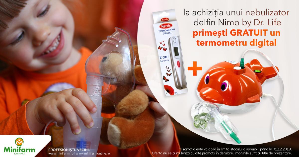 Termometru digital CADOU la achiziția unui nebulizator Delfin Nimo by Dr. Life
