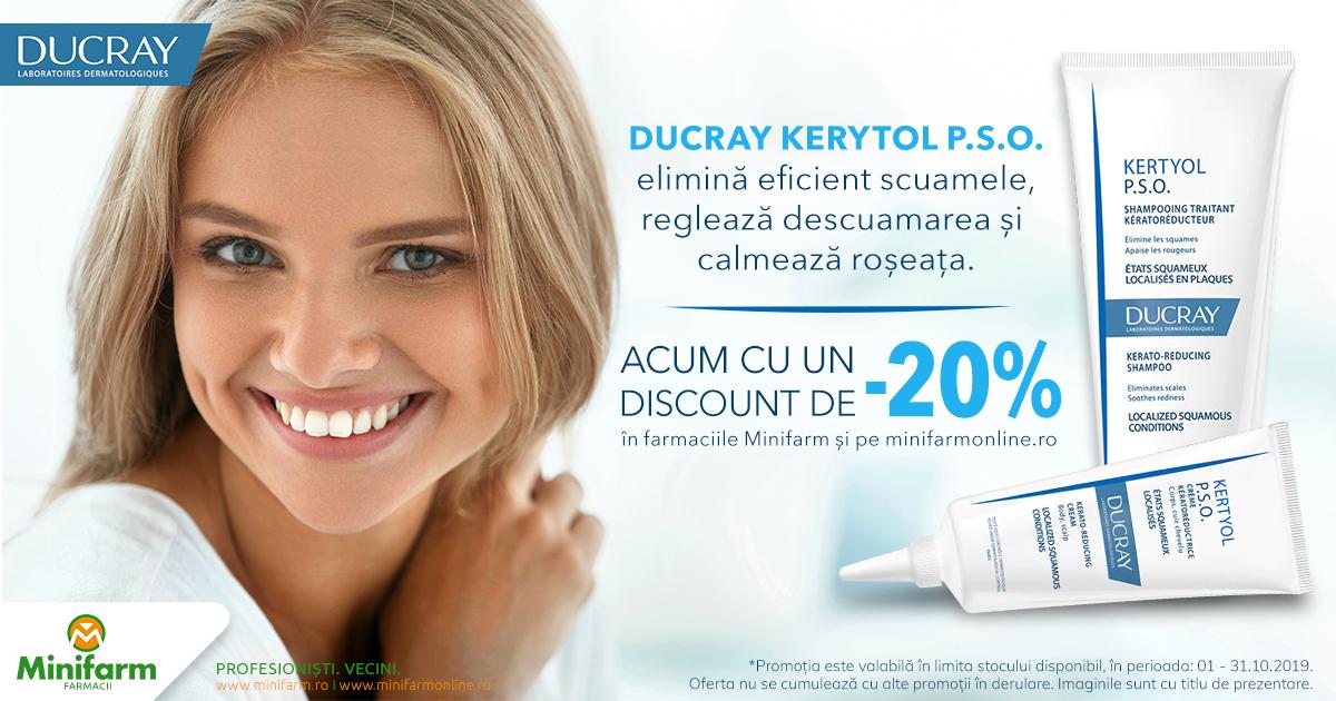 20% reducere pentru produsele selecționate din gama Ducray Kertyol!