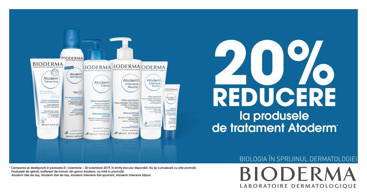 20% reducere la produsele de tratament Atoderm