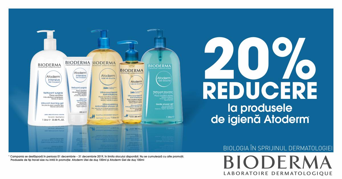 20% reducere la produsele de igiena Bioderma Atoderm