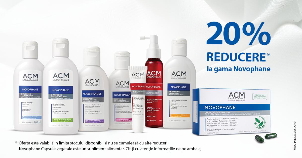 20% reducere la produsele pentru ingrijire ACM Novophane