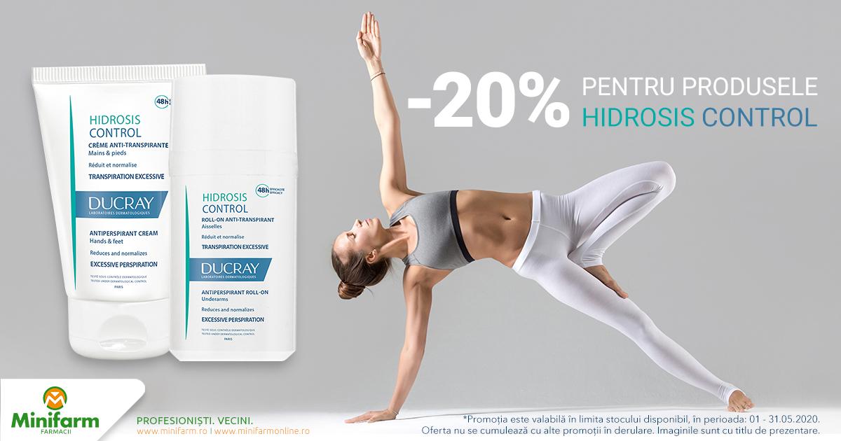 20% reducere pentru produsele selecționate din gama Ducray Hidrosis