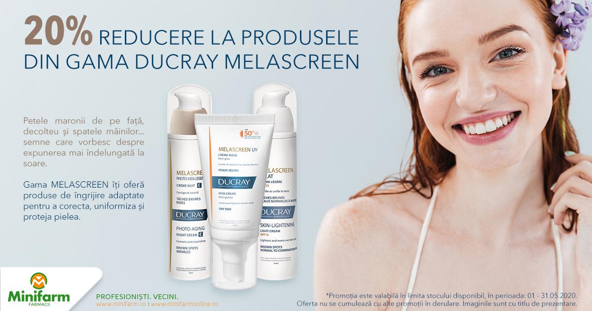 20% reducere pentru produsele selecționate din gama Ducray Melascreen