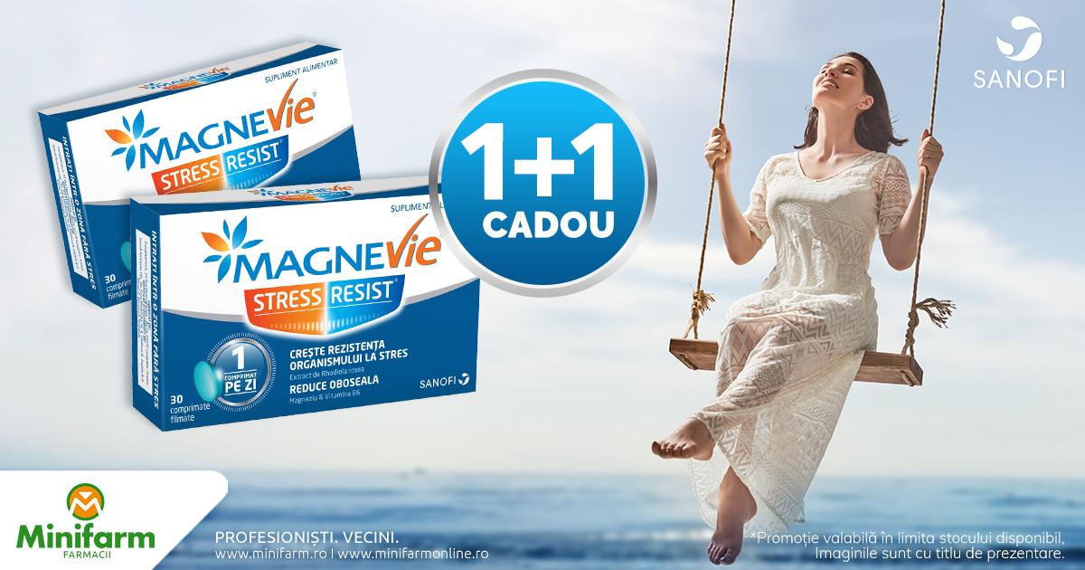 Fiecare cutie de MagneVie Stress Resist îți aduce CADOU încă o cutie!