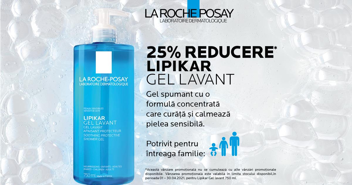 Descopera produsul lunii de la L'Oreal: La Roche-Posay Lipikar Gel Lavant, 750 ml