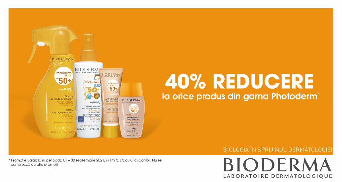 40% reducere la produsele pentru protectie solara de la Bioderma
