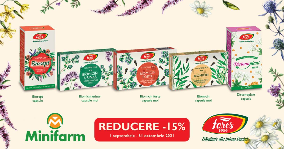 15% reducere la produsele selectionate de la Fares